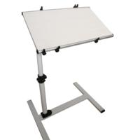 Yerden Yükseklik Ve Eğim Ayarlı Koltuk Kenarı Tekerli Laptop Sehpası