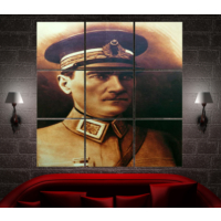 K Dekorasyon 1022 Atatürk Mdf Tablo - 9 Parçalı
