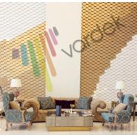Vardek 3D Altıgen Dekoratif Duvar Paneli - Altın