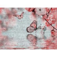 Vardek Resimli Taş Duvar Paneli Kelebek