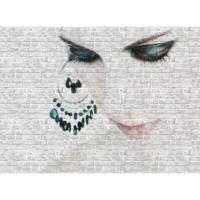 Vardek Resimli Taş Duvar Paneli Woman