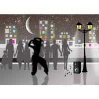 Duvar Tasarım DLC 1313 City & Mix Led Kanvas Tablo - 70x50 cm