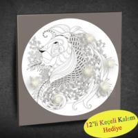Duvar Tasarım 1067 Led Işıklı Mandala Boyanabilir Kanvas Tablo (Kalem Hediyeli) - 35x35 cm