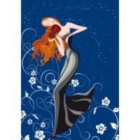 Duvar Tasarım DC 2211 İllustration Fashion Kanvas Tablo - 50x70 cm