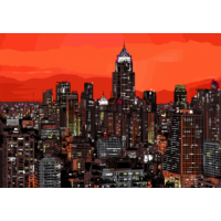 Duvar Tasarım DC 2193 İllustration Art Kanvas Tablo - 50x70 cm
