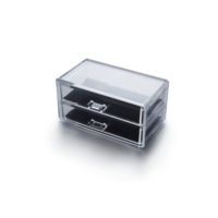Sarsam-1005-3 Çekmeceli Akrilik Makyaj ve Kozmetik Kutusu