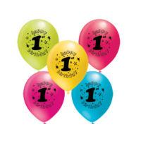 1 Yaş Baskılı Balon - 100 Adet