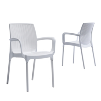Novussi Garden Sunset Rattan Sandalye - Beyaz