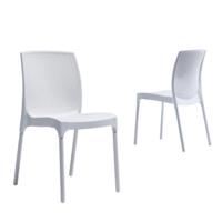 Novussi Garden Sunny Rattan Sandalye - Beyaz