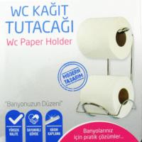 Dolap Kapağına Asılabilir Krom Tuvalet Kağıtlık