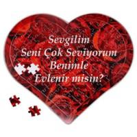 BuldumBuldum Kişiye Özel Kalp Kutuda Konuşan Kalp Puzzle - Çikolatalı Model