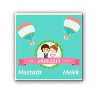 BuldumBuldum Kişiye Özel Biz Evlendik Ürünleri - Magnet
