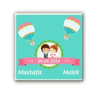 BuldumBuldum Kişiye Özel Biz Evlendik Ürünleri - Sihirli Kupa