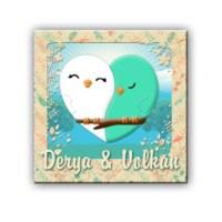 BuldumBuldum Çiftlere Özel Masum Kuş Ürünleri - Kalp Masa Saati