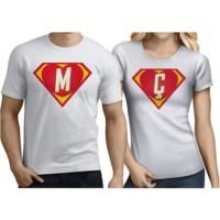 BuldumBuldum Sevgili T-Shirtleri - Beyaz - Süper Aşıklar