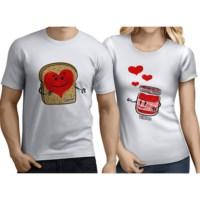BuldumBuldum Sevgili T-Shirtleri - Beyaz - Reçel Ekmek