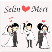 BuldumBuldum İsme Özel Yeni Evli Ürünleri - Magnet