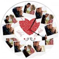 BuldumBuldum Sevgiliye Özel 12 Fotoğraflı Duvar Saati