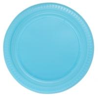 Parti Şöleni Açık Mavi Plastik Tabak 25 Adet