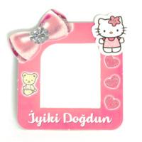 Parti Şöleni Hello Kitty Fotoğraflı Magnet