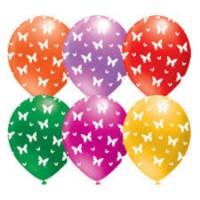 Parti Şöleni Kelebek Baskılı Balon 20 Adet