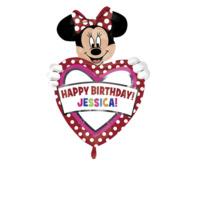 Parti Şöleni Minnie Mouse Kişiye Özel Folyo Balon 1 Adet
