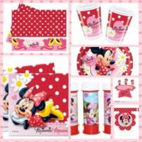 Parti Şöleni Minnie Mouse Fashion Doğum Günü Parti Seti 24 Kişilik