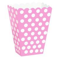 Parti Şöleni Pembe Puanlı Popcorn 6 Adet