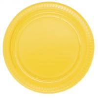 Parti Şöleni Sarı Plastik Tabak 25 Adet
