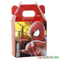 Parti Şöleni Spiderman Hediye Kutusu 5 Adet