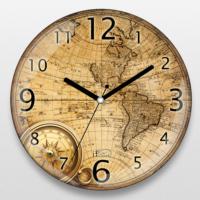 If Dizayn Eski Dünya Haritası Duvar Saati