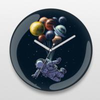 If Dizayn Rakamsız Uçan Astronot Duvar Saati