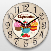If Dizayn Cupcake Tasarım Mutfak Duvar Saati