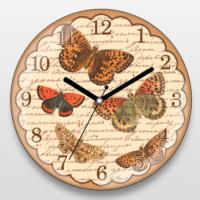If Dizayn Vintage Kelebek Tasarım Duvar Saati
