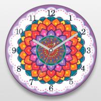 If Dizayn Mandala Tasarım Duvar Saati