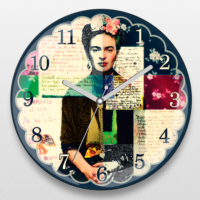 If Dizayn Frida Kahlo Tasarım Duvar Saati