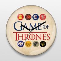 If Dizayn Game of Thrones Rakamsız Duvar Saati