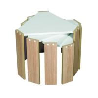 EvdemoAe-1036 Vezir Zigon Sehpa Akçaağaç-Beyaz