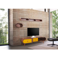 Te Home Retro Koton Oval 3 Modül Tv Ünite