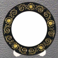 Bk Sublimasyon Gül Desenli Tabak 20 cm (altın )