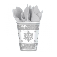 KullanAtMarket Gümüş Kartanesi Bardak -8 Adet