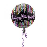 KullanAtMarket Renkli Happy New Year Folyo Balon -1 Adet