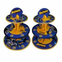 Tahtakale Toptancısı 3 Katlı Karton Cupcake Standı Batman Temalı Kek Standı