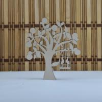 Tahtakale Toptancısı Ahşap Ağaç Kuş Kafesli Lazer Kesim Obje (20 Adet)