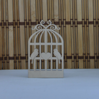 Tahtakale Toptancısı Ahşap Kafes Çift Kuşlu Kalpli Lazer Kesim Obje (20 Adet)