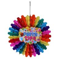 Tahtakale Toptancısı Süs Yelpaze Karışık Renk Party Time 50 Cm