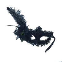 Tvs Tüylü Balo Maskesi Siyah Renk
