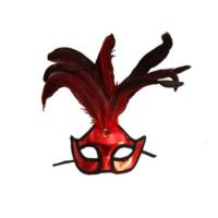 Tvs Kumaş Venedik Parti Maskesi Kırmızı