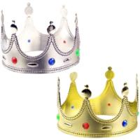 Tvs Kral Tacı Plastik Altın ve Gümüş Renk