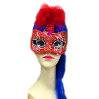 Tvs Tüylü İşlemeli Venedik Parti Maskesi
